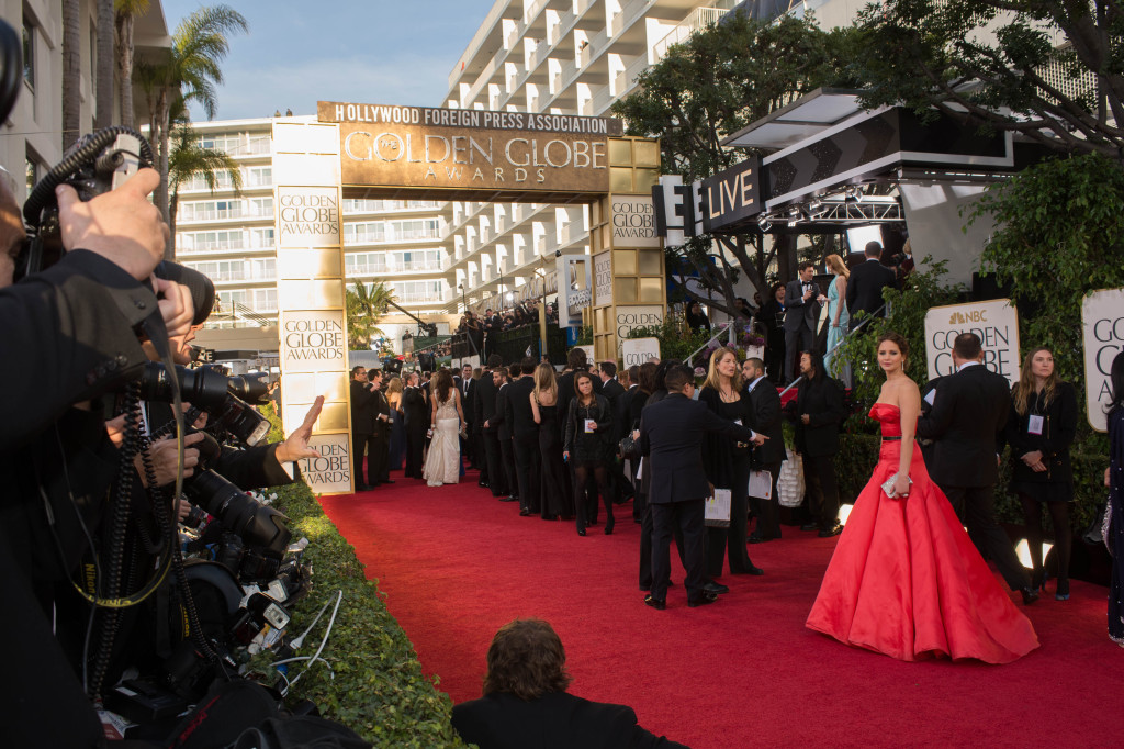 """Nominated for BEST PERFORMANCE BY AN ACTRESS IN A MOTION PICTURE – COMEDY OR MUSICAL for her role in """"SILVER LININGS PLAYBOOK"""", actress Jennifer Lawrence attends the 70th Annual Golden Globe Awards at the Beverly Hilton in Beverly Hills, CA on Sunday, January 13, 2013."""