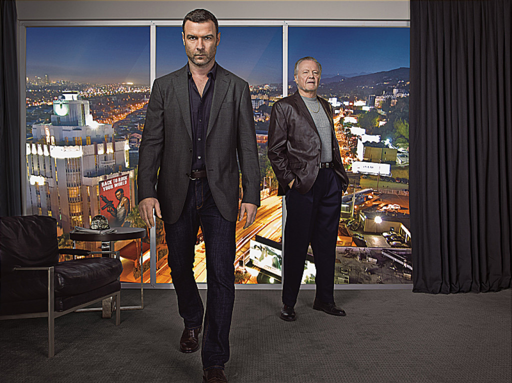 Liev Schreiber as Ray Donovan and Jon Voight as Mickey Donovan in Ray Donovan (Season 1). - Photo:  Jeff Riedel/SHOWTIME - Photo ID:  Ray Donovan_Living Room Double.R