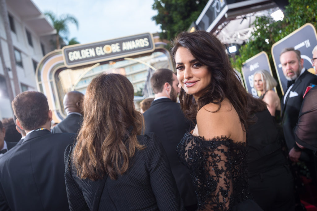 Penelope Cruz arrives at the 75th Annual Golden Globe Awards at the Beverly Hilton in Beverly Hills, CA on Sunday, January 7, 2018.