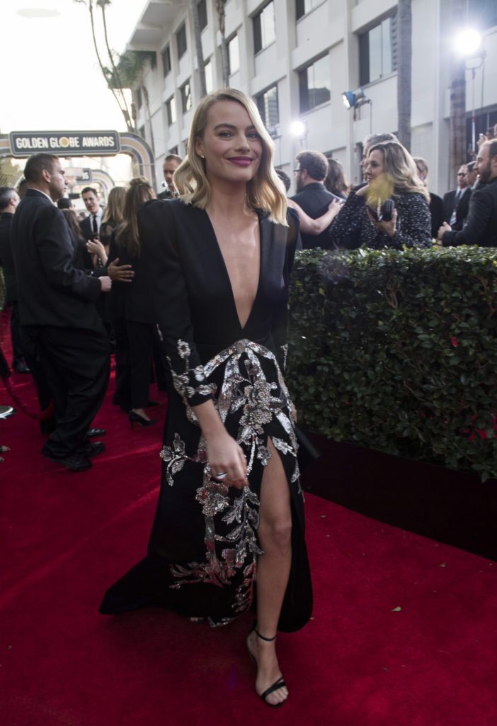 Margot Robbie at the 75th Golden Globe Awards in Beverly Hills, CA. 01-07-2018 Photo: Magnus Sundholm