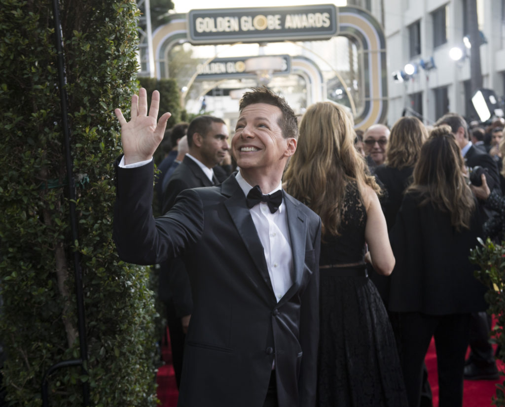 Sean Hayes at the 75th Golden Globe Awards in Beverly Hills, CA. 01-07-2018 Photo: Magnus Sundholm
